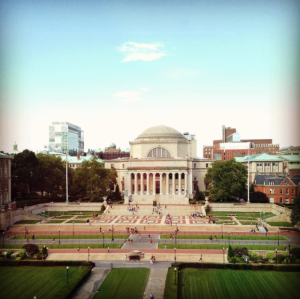 My last day at Columbia; that campus is incredible.